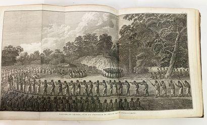 Livre voyage, cartes et figures du 3eme voyage de Cook à Paris, vue des Poitevins,...