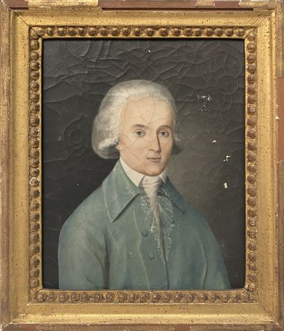 Ecole du XIXe  Portrait d'un gentilhomme...
