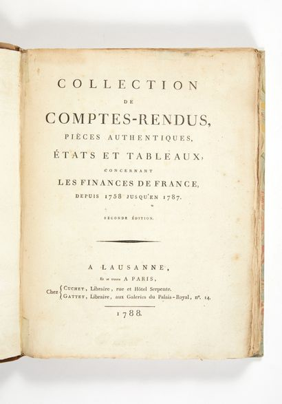 [MATHON OF THE COURT (Charles-Joseph)]. Collection of accounts, authentic documents,...