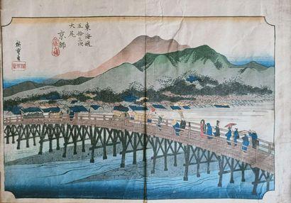JAPON D'après Utagawa Hiroshige ( 1797 -...