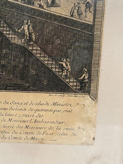 Entrée publique de son excellente le Comte Lauritz-Rittberg Estampe sur papier du...