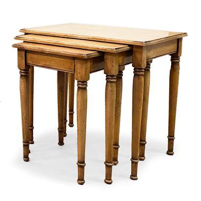 Tables gigognes en bois naturel H_49 cm L_52...