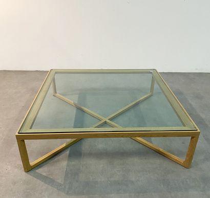 MARC KRUSIN (Né en 1973)  Table basse  Chêne...