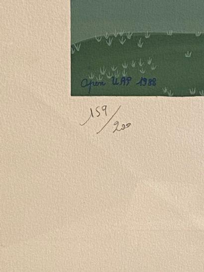 Latreille Open UAP 1988 - Les golfeurs Lithographie signé en bas à droite et numérotée...