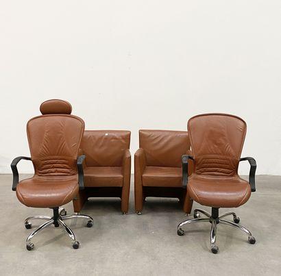 Ensemble comprenant deux fauteuils de bureau...