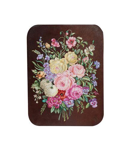 Ecole française, vers 1840 Bouquet de fleurs...