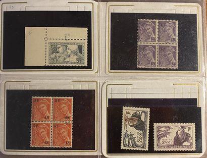 FRANCE Petit ensemble de timbres classés...