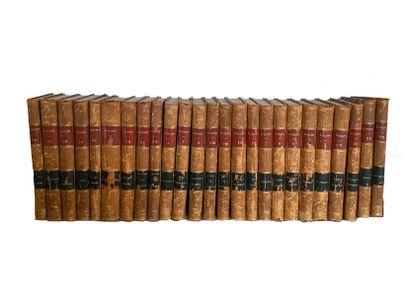 WALTER SCOTT. Oeuvres complètes Paris, 1845, administration des librairies, 25 volumes...