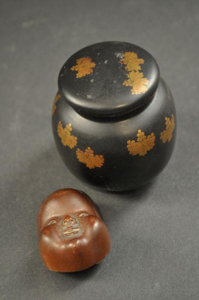 Japon . Masque miniature de théàtre nô en...