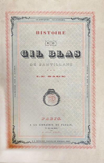 LE SAGE, [Alain-René Lesage] Histoire de Gil Blas de Santillane Paris, chez Paulin,...