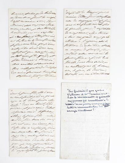 George SAND (1804-1876). L.A.S., [Nohant] June 3, 1858, to Stéphanie BOURJOT; 3...