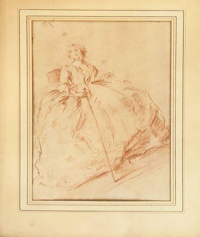 ECOLE FRANCAISE XVIIIe siècle Portrait d'une...