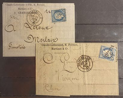 FRANCE Petit ensemble de timbres classés dont Essai du N°252, bloc de quatre des...