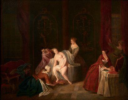Suiveur de Jean-Baptiste Pater La toilette...
