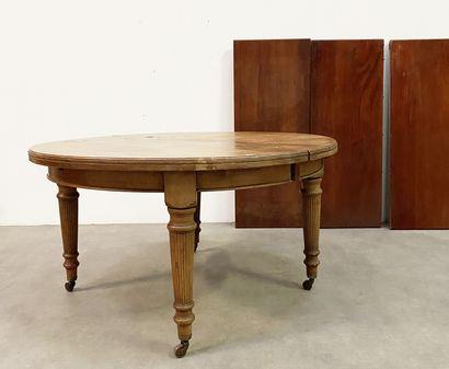 Table de salle à manger en bois naturel H_76...