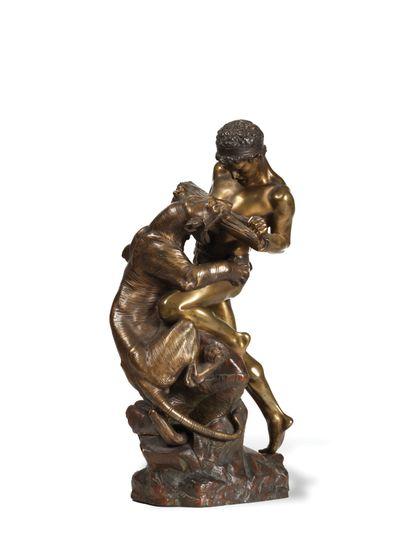 EDOUARD DROUOT (1859-1945)  Lutte pour la...