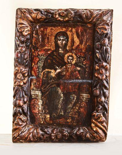 Icône représentant la Mère de Dieu, Hodegetria...