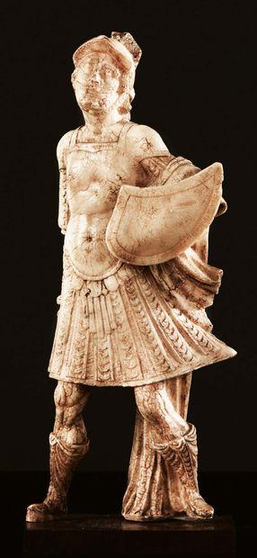 Soldat romain, Mars ?, en albâtre sculpté...
