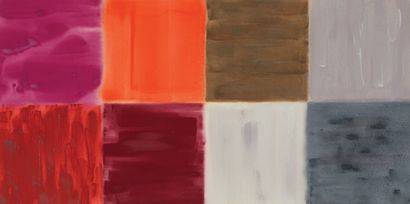 MILLY RISTWEDT (NÉE EN 1942) Fourth grid (red and grey), 1993 Acrylique sur toile....
