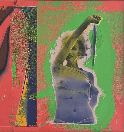 Bert STERN (1929-2003) Marilyn Monroe, 1969 Sérigraphie en couleurs. Recto verso....