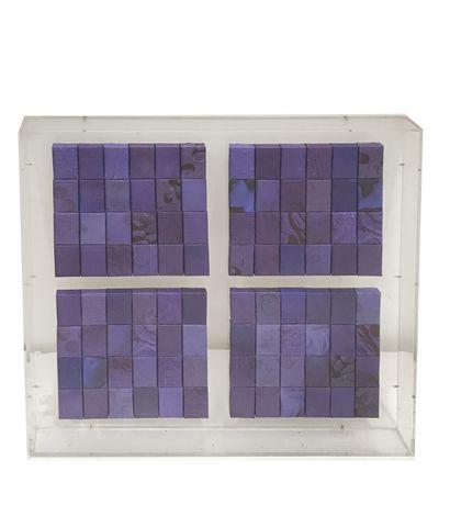 Pierre Coorema n Monochrome, 2000 Accumulation et collage sous plexiglas. Signé et...