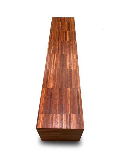 Banc Placage de bois exotique H_40 cm L_200 cm P_40 cm