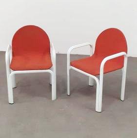 Gae AULENTI (1927-2012) Designer & KNOLL International Éditeur Paire de fauteuils...