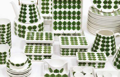 """STIG LINDBERG (1916-1982) Dinner service model """"Berså"""" Porcelain Porcelain About..."""