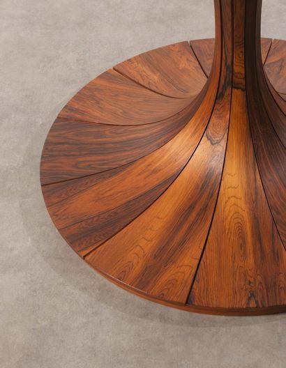 KARL ERIK EKSELIUS (1914-1998) Table de salle à manger Palissandre Rosewood Edition...