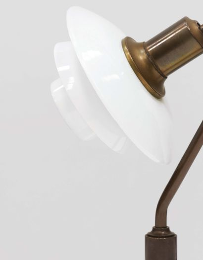 """Poul Henningsen (1894-1967) Table lamp model """"PH 2/2 Vintergækken"""" Patinated brass..."""