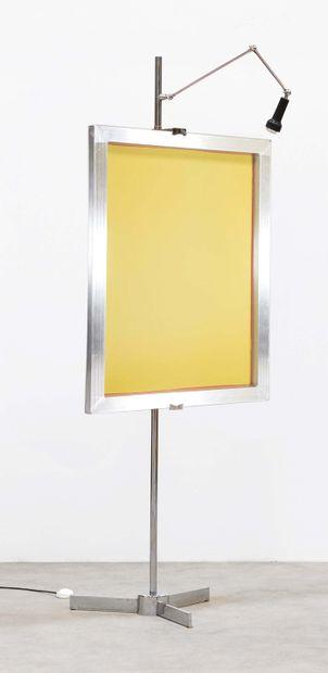 ANGELO LELLI (1911-1979) Chevalet modèle «Cavalletto» Metal chrome et metal laque...