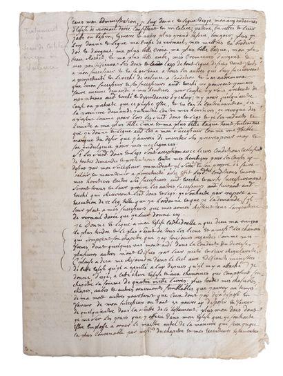 CATELLAN (Jean de). Copie manuscrite de son...