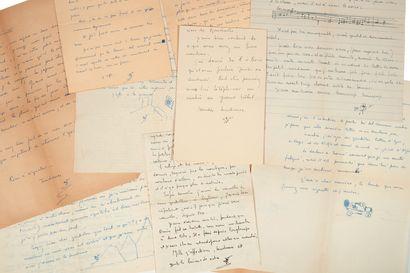 DÉSORMIÈRE (Pierre Roger). Correspondence addressed to Colette Steinlen. [1921-1940]....