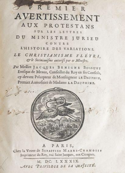 BOSSUET (Jacques Bénigne). Premier [- Cinquième]...