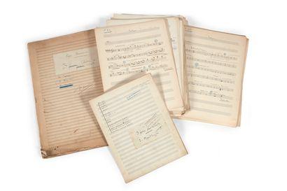 DÉSORMIÈRE (Roger). 3 études d'orchestre....