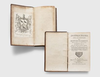 BOSSUET (Jacques Bénigne). Instructions on the version of the New Testament printed...