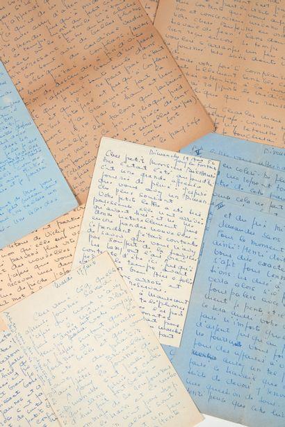STEINLEN (Renée Germaine dite Colette). Correspondence addressed to Roger Désormière....