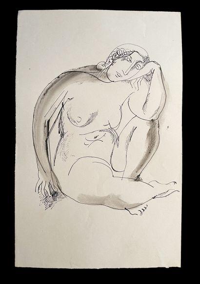 Bengt Lindström (1925-2008) Etude de femmes. Ensemble de trois dessins à l'encre...