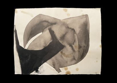 Bengt Lindström (1925-2008) Composition. Ensemble de quatre dessins à l'encre sur...