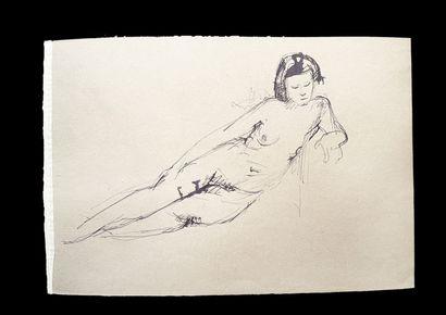 Bengt Lindström (1925-2008) Etude. Ensemble de quatre dessins sur papier. 1 : Crayon...