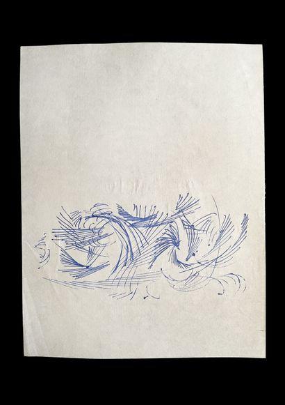 Bengt Lindström (1925-2008) Etude. Ensemble de quatre dessin. Encre et aquarelle...