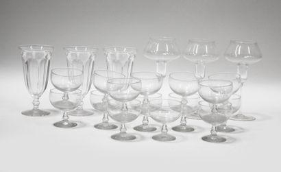 Partie de service de verres comprenant 15...
