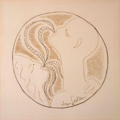 D'après Jean Cocteau Le couple Reproduction H_44 cm L_44 cm