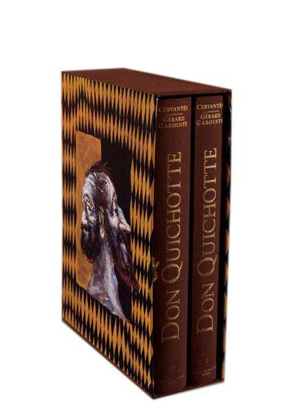 """CERVANTES """"Don Quichotte"""" illustré par Gérard Garouste, deux volumes sous emboi..."""