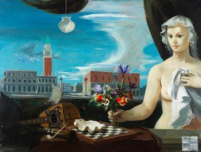 Roger Chapelain-Midy (1904-1992) Hommage à Carpaccio Huile sur toile signée et datée...