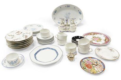 Lot de céramiques comprenant des assiettes,...