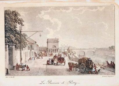 Ensemble de cinq gravures napoléoniennes