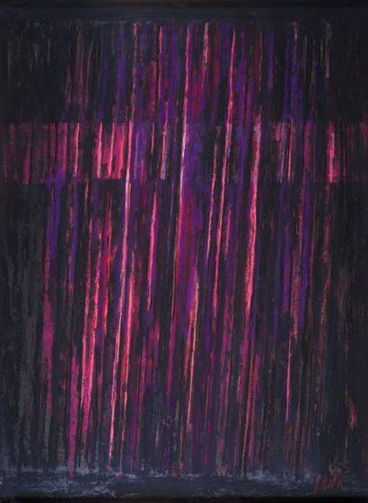 Pierre SKIRA (né en 1938) Composition Pastel sur panneau H _75 cm L_55 cm
