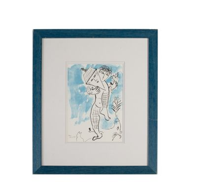 MARC CHAGALL (1887-1985) L'acrobate, carton...