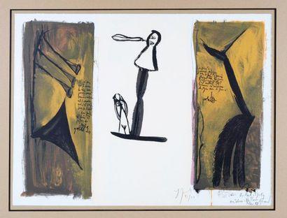 Gérard Garouste (né en 1946) Lithographie signée en bas à droite H_45 cm L_62 c...